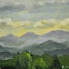 "Blue Ridge Sunset, 6.5"" x 9"""