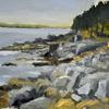 Rocky Shore at Acadia National Park, 9.75 x14.5